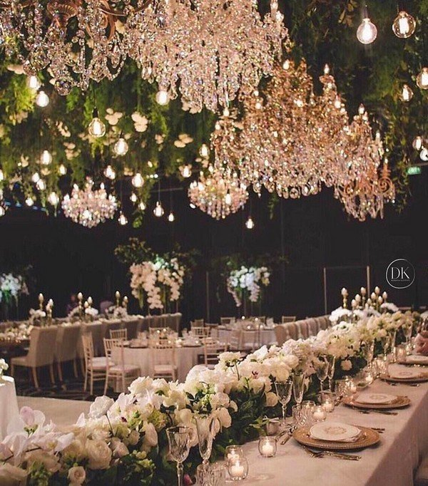 Trending12 Fairytale Wedding Flower Ceiling Ideas for