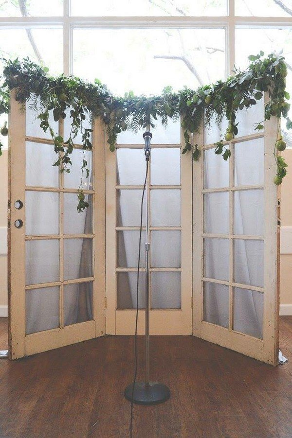 18 Wedding Decoration Ideas with Vintage Old Doors  Oh Best Day Ever