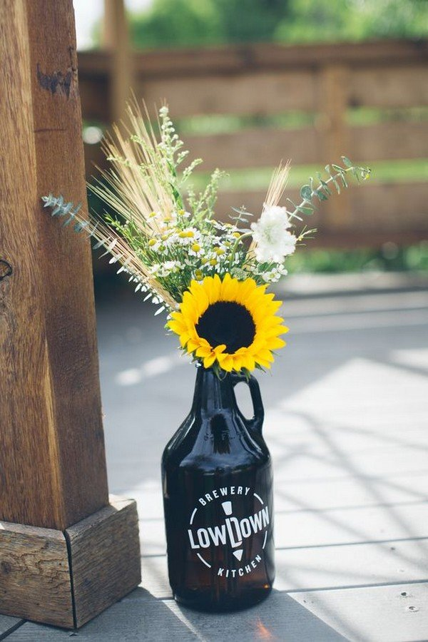 18 Cheerful Sunflower Wedding Centerpiece Ideas  Page 2 of 2  Oh Best Day Ever