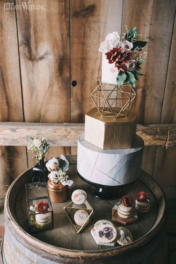 40 Chic Geometric Wedding Ideas For 2018 Trends Oh Best