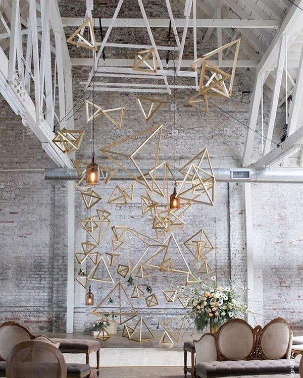 40 Chic Geometric Wedding Ideas for 2018 Trends  Oh Best Day Ever