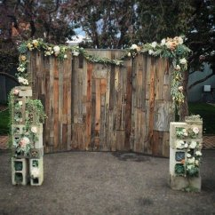 Beach Wedding Chair Decoration Ideas S Dining Chic Rustic Wooden Photobooth Backdrop - Oh Best Day Ever
