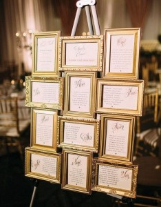 Trending wedding seating chart decoration ideas also vintage gold frame oh best rh ohbestdayever