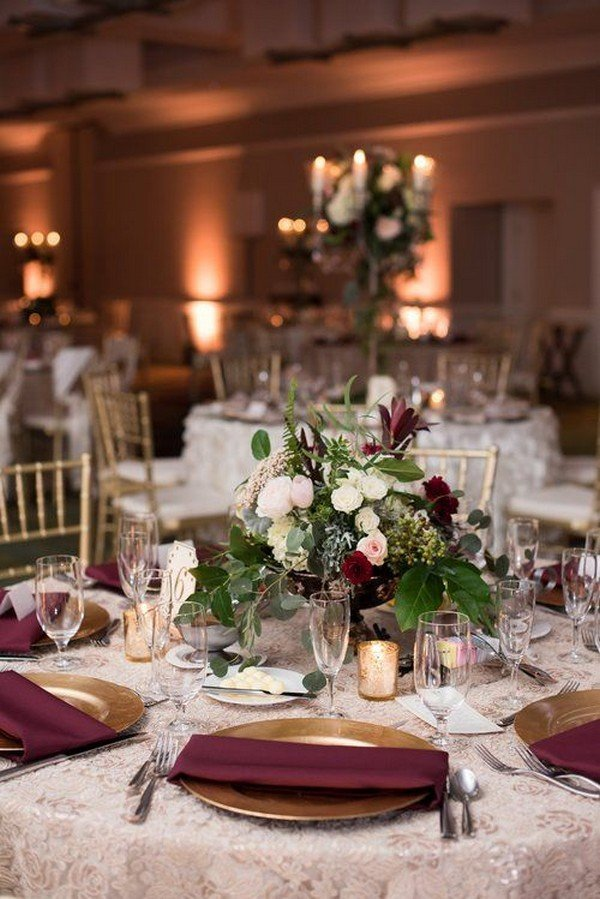 Top 18 Burgundy Wedding Centerpieces for Fall 2018  Page 2 of 2  Oh Best Day Ever