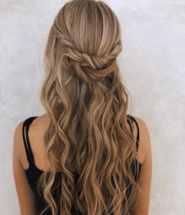 Top 20 Half Up Half Down Wedding Hairstyles for 20182019