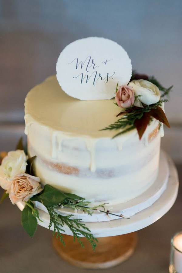 22 Pretty Single Layer Wedding Cakes For 2020 Trends