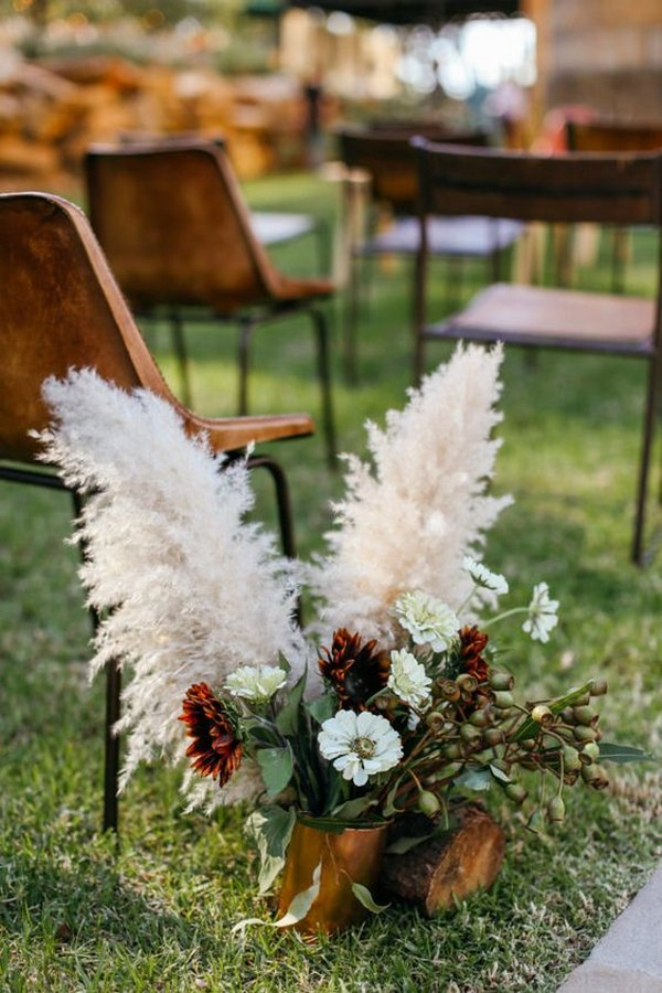 Pampas Grass Wedding Aisles Archives Oh Best Day Ever