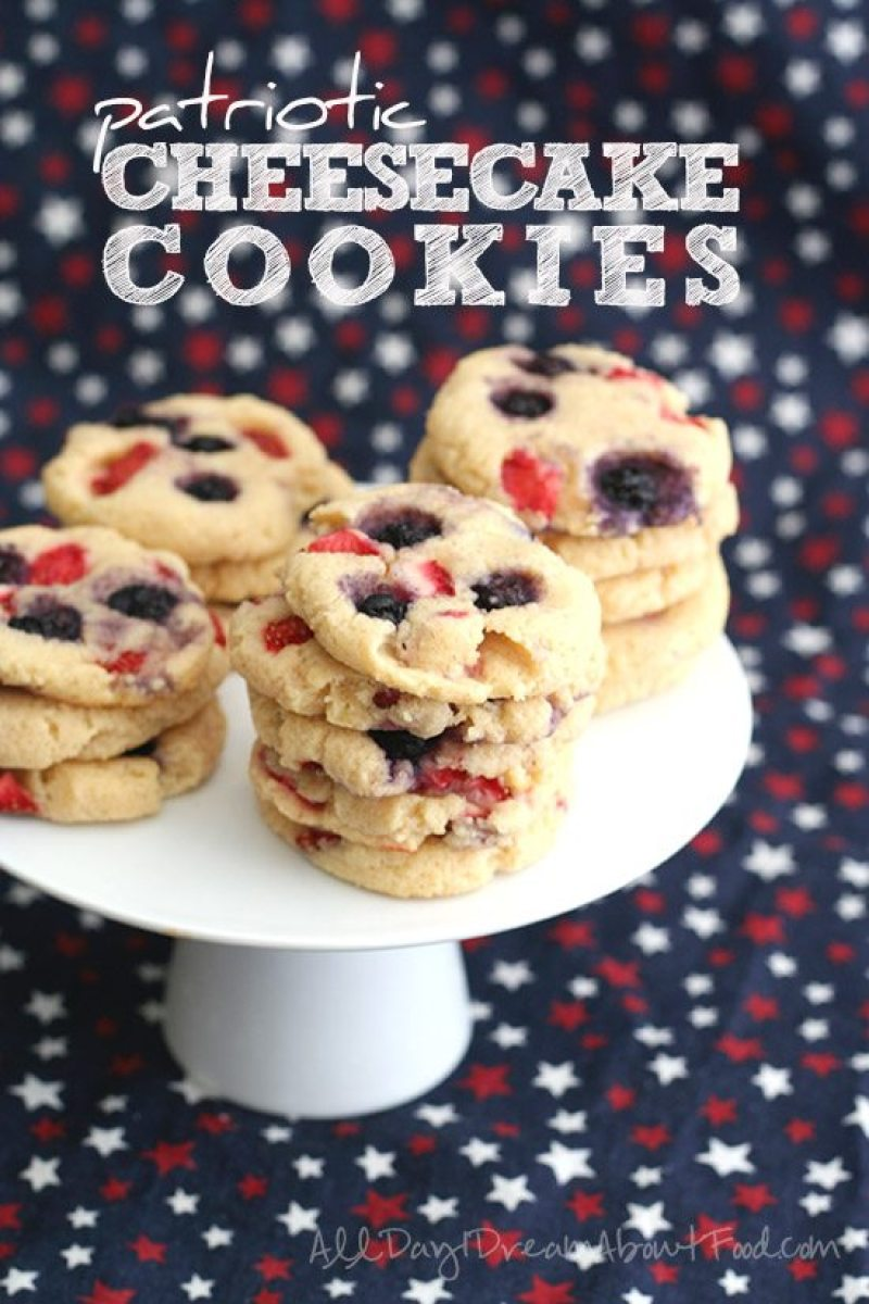 Low Carb Patriotic Cheesecake Cookies   Looking for delicious low carb and Keto 4th of July Desserts? I've got the perfect treats for you! These 4th of July Keto desserts recipes are perfect for the celebration and will make sure you stay on track with your ketogenic diet while still enjoying mouthwatering sugar-free and low carb keto desserts. How to have a low carb 4th of July party. #ketodessert #lowcarbdessert #fatbombs #4thofjuly #4thofjulydesserts #4