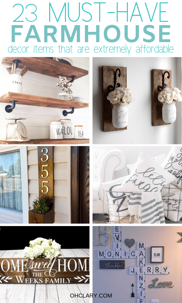 23 Cheap farmhouse style decor items that look amazing. Are you looking for rustic farmhouse decor items but don't know where to buy farmhouse decor on a budget? I've got just the list for you! I have gathered all of my favourite rustic and vintage farmhouse decor items to this list. From beautiful farmhouse wall art to kitchen accessories and bedroom ideas! Get the fixer-upper look for cheap! Joanna Gaines approved, Modern farmhouse decor #farmhousedecor #farmhousestyle