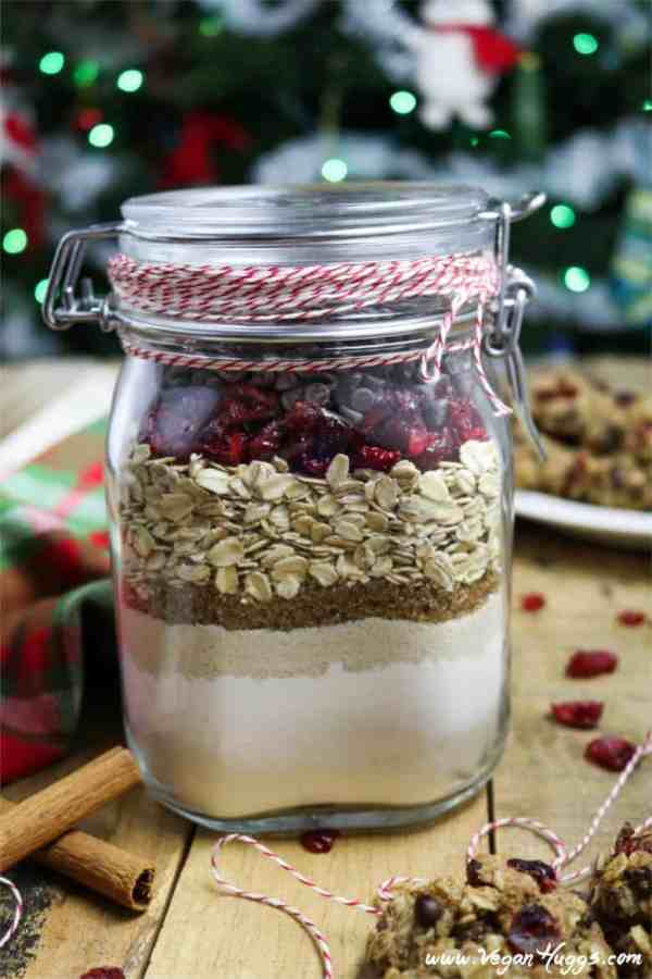 Cranberry-Oatmeal Chocolate Chip Cookies In A Jar - 15 DIY Christmas gifts in a jar for everyone on your list. Mason Jar Christmas Gifts for Coworkers, friends, teachers, and family. These gift ideas are super easy and cheap to make. Homemade recipes for edible gifts. Most of these recipes come with printable labels which makes it super quick to do! Have a stress free Christmas on a budget by making DIY Christmas gifts in 2018!