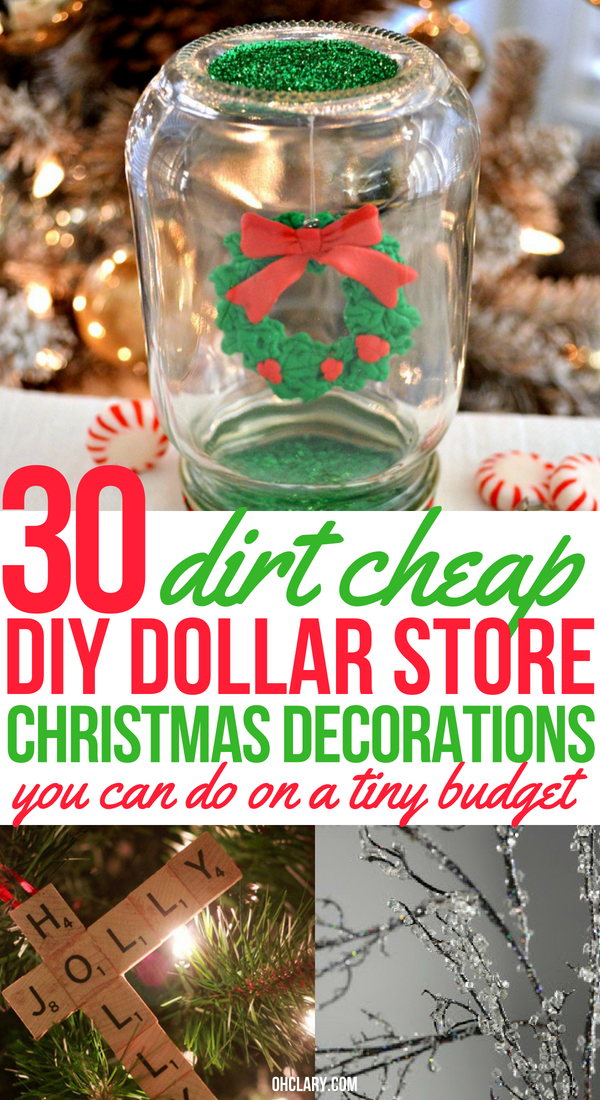 Who doesn't want to decorate their home for the holidays? These DIY Dollar Store home decor ideas will get you festive on a small budget. Dollar Store DIY Christmas Decor and Crafts to make your home look beautiful this Christmas.#christmascrafts #christmas #christmasideas #christmasdecorations #diyhomedecor #homedecorideas #christmasdecor