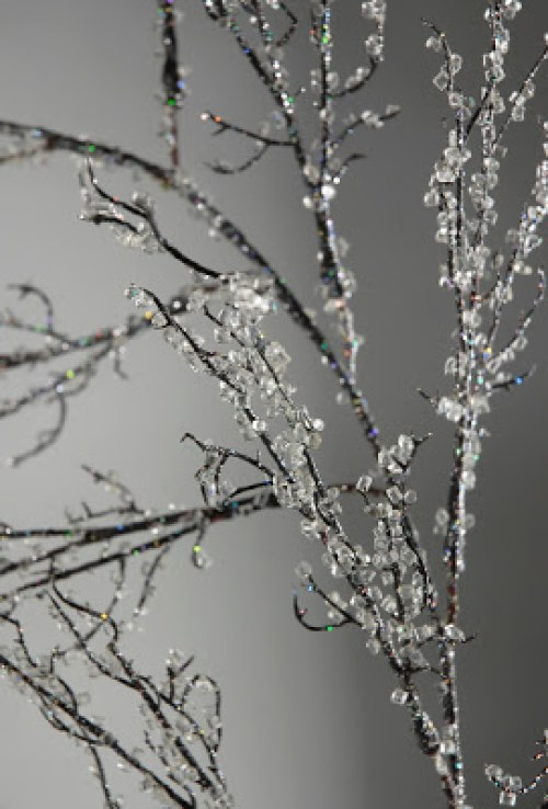 Iced Branches by Make Them Wonder - 30 Incredible Dollar Store DIY Christmas Decor Ideas. Easy to make decorations that you can do on a small budget. Make beautiful and easy centrepieces, ornaments, candle holders and mason jar crafts. These awesome Dollar Tree DIY Christmas crafts are simple enough to be made with your kids. Just click on this to find out more or pin for later!
