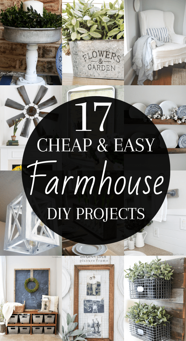 DIY Rustic Farmhouse Decor Projects for Your Country Chic Cottage. Joanna Gaines would even be amazed at how easy these DIY farmhouse decor ideas are! Click to find out more today!