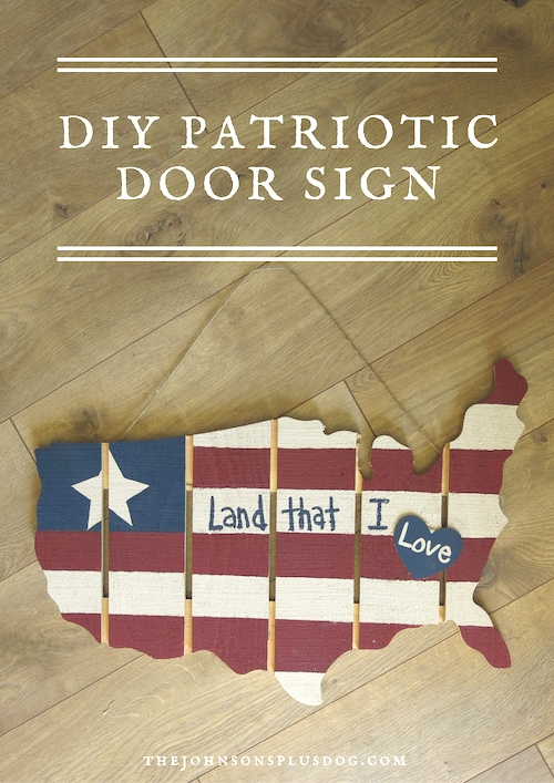 DIY Wood Projects to Sell: Patriotic Door Sign