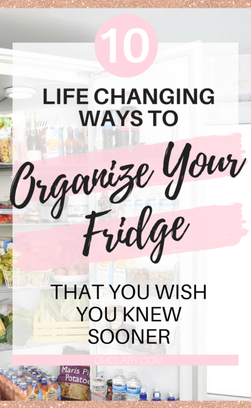 10 Awesome Ways To Organize Your Fridge And Freezer. Genius fridge organization ideas that can be made DIY with items from the dollar store. These hacks and tips are perfect for small spaces. Storage solutions for every refrigerator. Find out how to organize your fridge today! #organisation #organization #fridge #kitchenideas