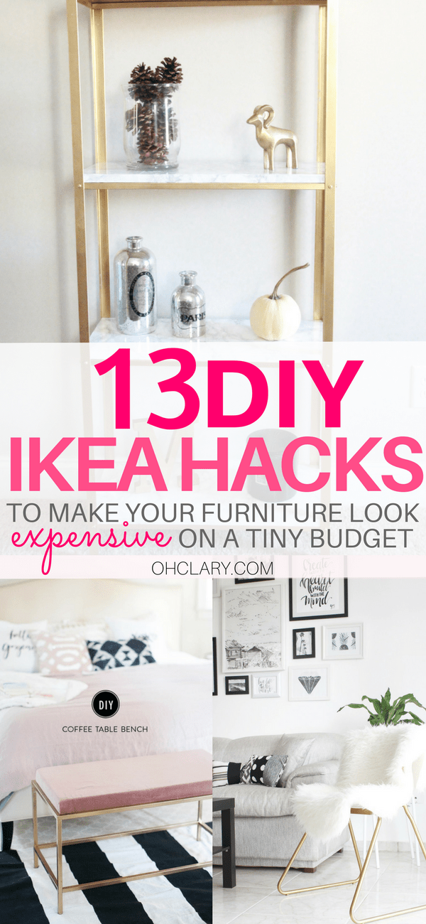 I have compiled a list of 13 of the very best DIY IKEA Hacks that anyone can do! These Ikea hacks will be sure to jazz up your furniture and leave your house beautiful. The best ikea ideas, ikea kitchen, diy ikea hacks, ikea hacks, ikea bar #diyhomedecor #ikeahacks #ikeaideas #ikeakitchen #ikeafarmhouse