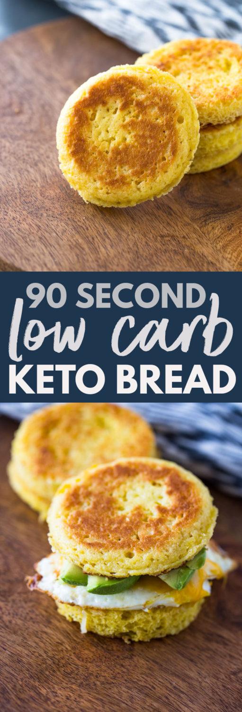 90 Second Low Carb Keto Bread #lowcarb #ketobread # #lowcarbsnack #lowcarbbread #lowcarbrecipes #keto #bestketobread