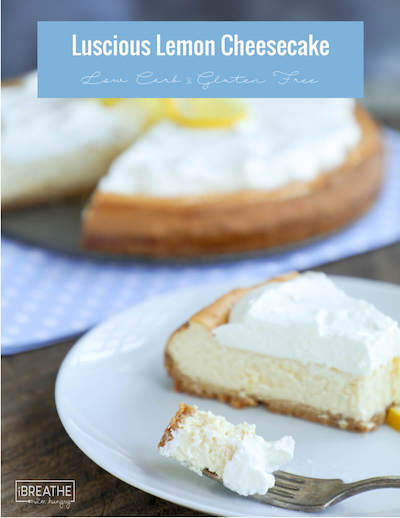 Lucious Lemon Low Carb Cheesecake - Easy Keto Cheesecake recipes that taste like real cheesecake! These no-bake keto cheesecakes are absolutely DELICIOUS! Click to find your new favorite quick keto dessert! #ketorecipes #ketodiet #ketocheesecake #ketodessert
