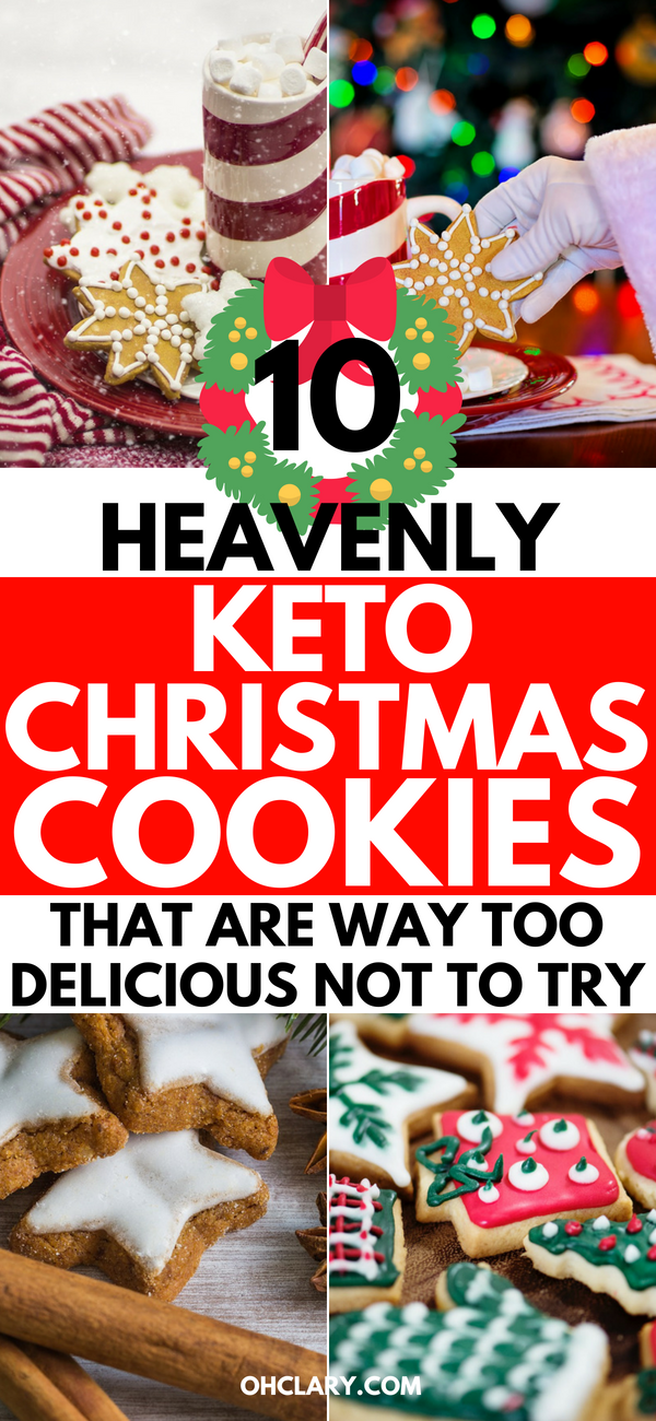 These low carb keto Christmas cookies are THE BEST I EVER TRIED! I'm so glad I found these 10 easy keto Christmas cookies recipes. Now I can stay on track of my ketogenic diet and lose weight even in the holiday season. My family keeps begging me to make more of the snickerdoodle creme cookies.. Definitely pinning this for later!