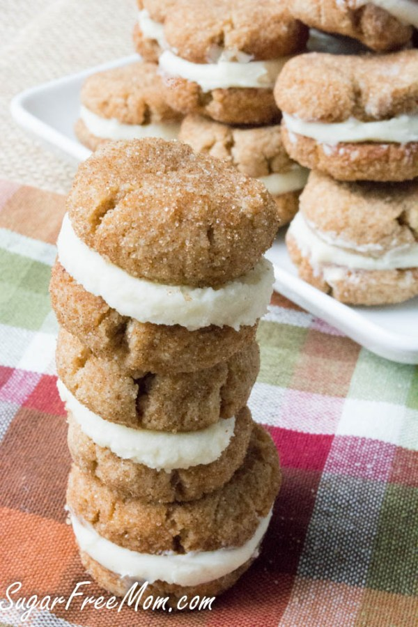 Sugar-Free Snickerdoodle Creme Cookies by Sugar-Free Mom - 10 MUST TRY Keto Christmas Cookies Your Whole Family Will Love. Made with almond flour, stevia, cream cheeses and peanut butter. They are so easy anyone can do them. No baking experience needed. Perfect for Christmas of 2018. These keto cookies are what dreams are made of!