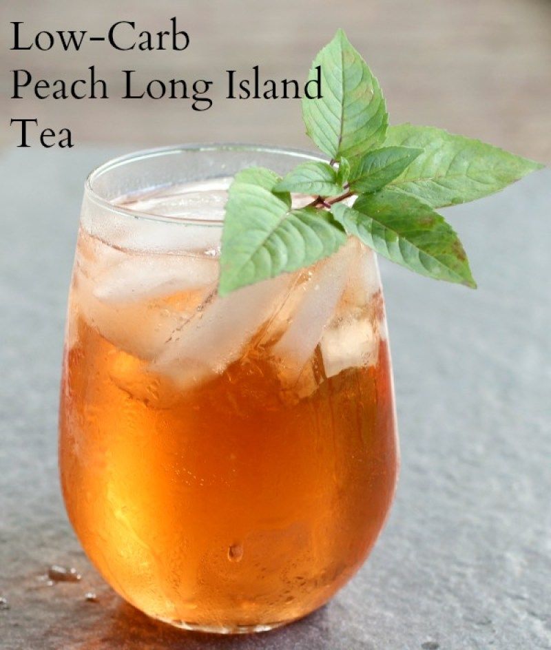 Low Carb Peach Long Island Iced Tea - Uhmm, cocktails on the keto diet? Heck yeah!! This post includes 13 EASY keto cocktails (low carb cocktails) that taste incredible without the carbs! This post includes such a huge selection of keto recipes. Click through to see the best keto cocktail recipes you've ever tried before! #keto #ketogenic #ketodiet #ketorecipes #ketococktails #lowcarbcocktails