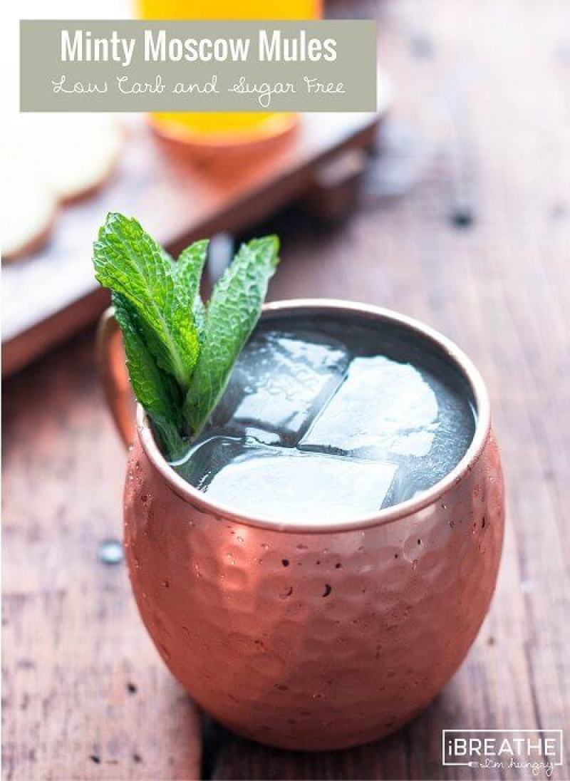 Sugar Free Minty Moscow Mule - Uhmm, cocktails on the keto diet? Heck yeah!! This post includes 13 EASY keto cocktails (low carb cocktails) that taste incredible without the carbs! This post includes such a huge selection of keto recipes. Click through to see the best keto cocktail recipes you've ever tried before! #keto #ketogenic #ketodiet #ketorecipes #ketococktails #lowcarbcocktails
