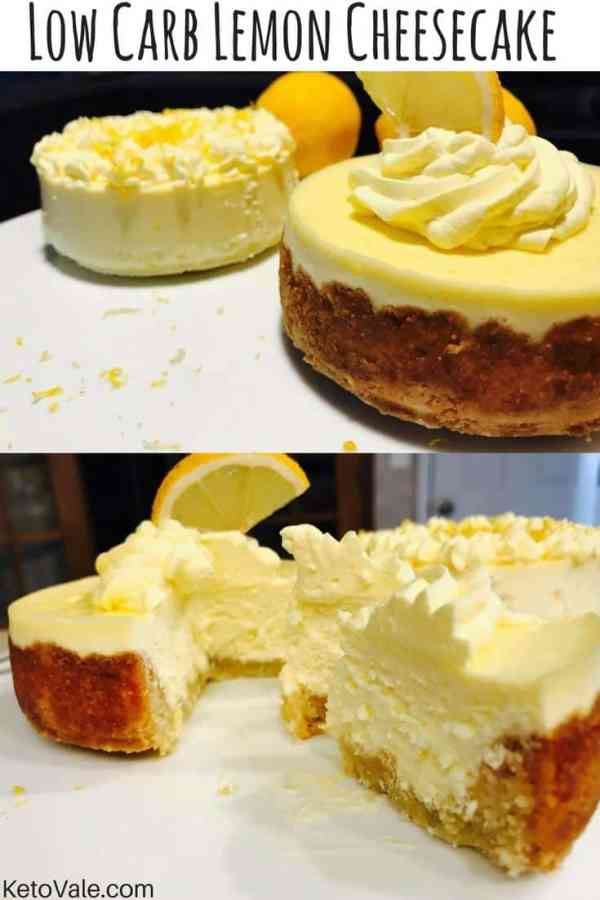 Low Carb Lemon Cheesecake - The Best 11 Keto Dessert Recipes! How can something so delicious be low carb and good for you?! You and your family will love-love-love these low carb ketogenic desserts and will be asking for seconds. Click to find out more and you won't regret!! #keto #ketodiet #ketorecipes #ketogenicdiet #ketogenic #lchf #lowcarb #lowcarbdiet #healthy #healthyrecipes #weightloss