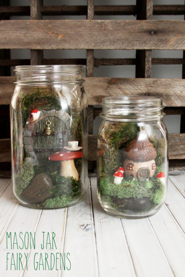 Mason Jar Fairy Garden by Lil Luna - 15 DIY Mason Jar Crafts To Sell For Extra Money. Creative and unique easy DIY crafts you can make using dollar stores items and sell for a nice profit at craft fairs, flea markets or on Etsy. Making easy mason jar craft ideas is a great way to make some extra money for Christmas. Make them with your kids or teens and sell for extra cash or even use at your own home as home decor.