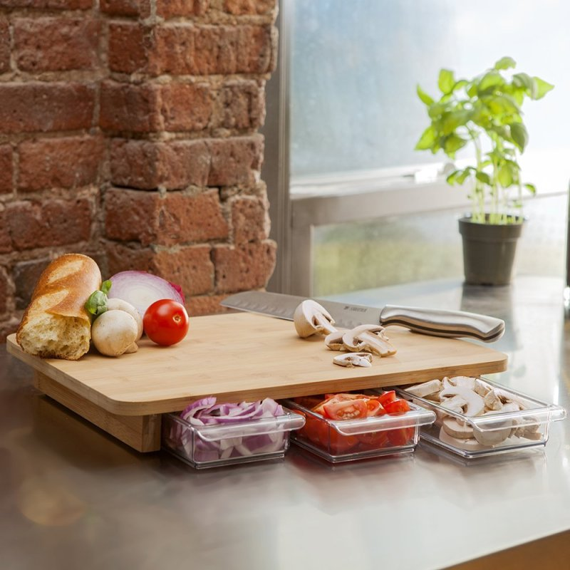 Genius Chopping Board With Storage!