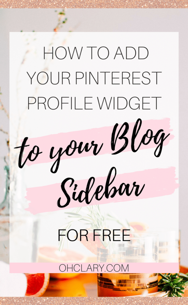 Add Your Pinterest Profile to Your Blog Sidebar for Free! No monthly fees or any of that stuff! This will take you less than 5 minutes and is simple enough for anyone to do! Having your Pinterest profile visible on your blog can help you increase your Pinterest followers by a ton! #pinteresttips #followers #bloggingtips