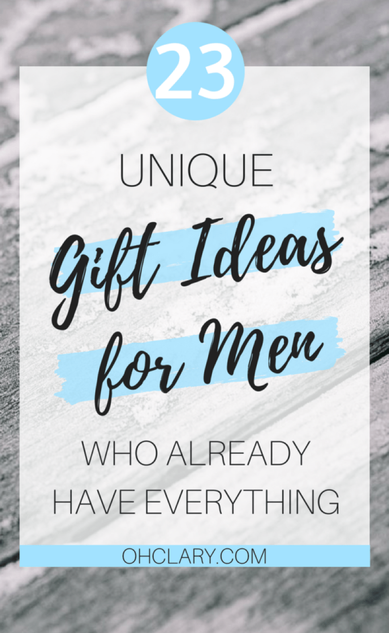 It is so hard to buy gifts for men! I have compiled an ultimate list of 23 unique gift ideas for men who have everything! Gift ideas for men, gift ideas for men who have everything, gift ideas for men christmas, valentines gift ideas for men, valentines gift ideas for men boyfriends, unique gift ideas for men