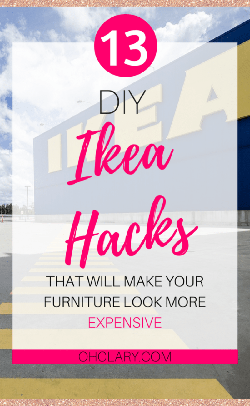 Are you looking for some DIY IKEA Hacks? I have compiled a list of 13 most beautiful IKEA Hacks that anyone can do. These Ikea hacks are perfect for creating storage and making your furniture look amazing on a budget! Ikea hacks bedroom | Ikea hacks living room | Ikea hacks for kids.