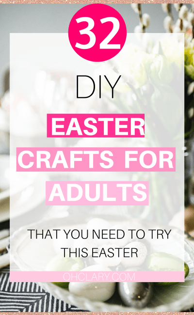 Are you looking for some DIY Easter crafts for Adults? I have the ultimate list of 30+ Easter crafts for adults that I want to share with you today! These handmade Easter crafts for adults are the perfect way to bring the Easter cheer into your house! These DIY Easter crafts are perfect to give as a gift or to even sell! Easter Decoration | DIY Easter Crafts | Easy Easter Crafts for Adults | Decoration Easter Crafts for Adults