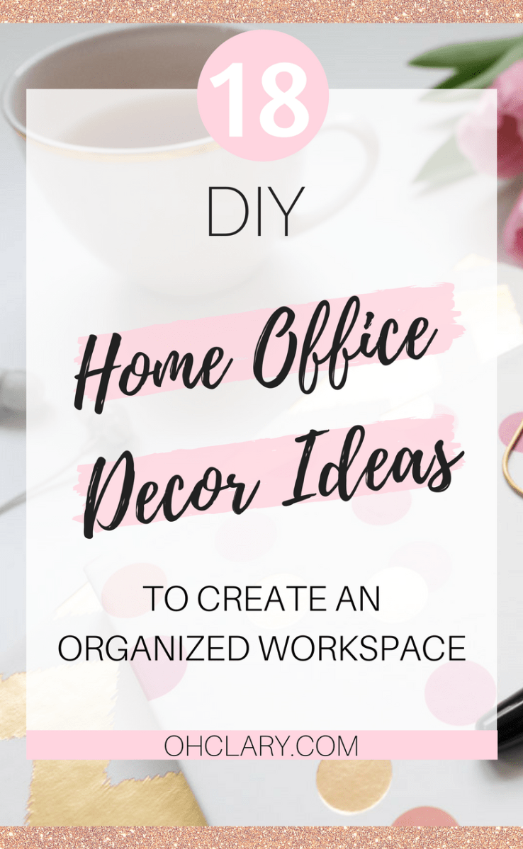 18 of the best DIY Projects for Home office Decor to Create an Organized Workspace and Boost Productivity When Working From Home. These DIY Office Decor Projects will be sure to inspire you to create something amazing today and make your home office a place you want to be! #homeoffice #homeofficeideas #officedecor #officedesign #diyproject #diyhomedecor #bossbabe #girlboss