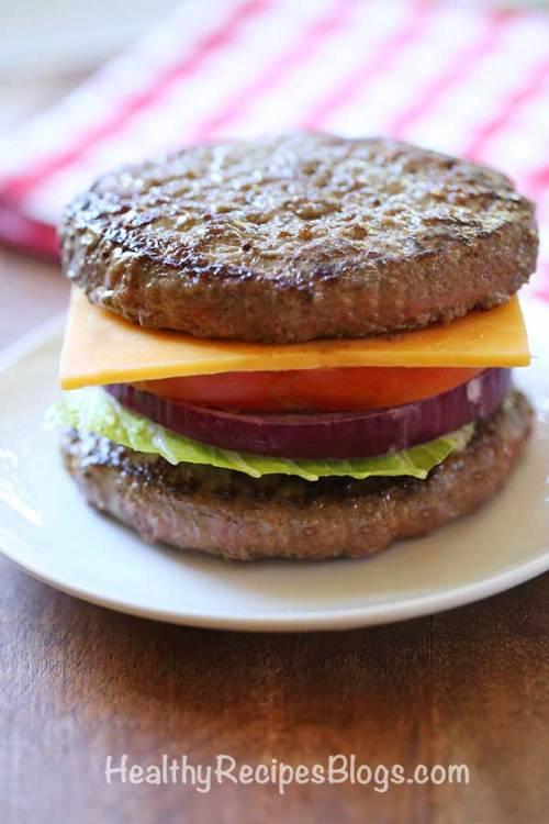 Low Carb Bunless Burger