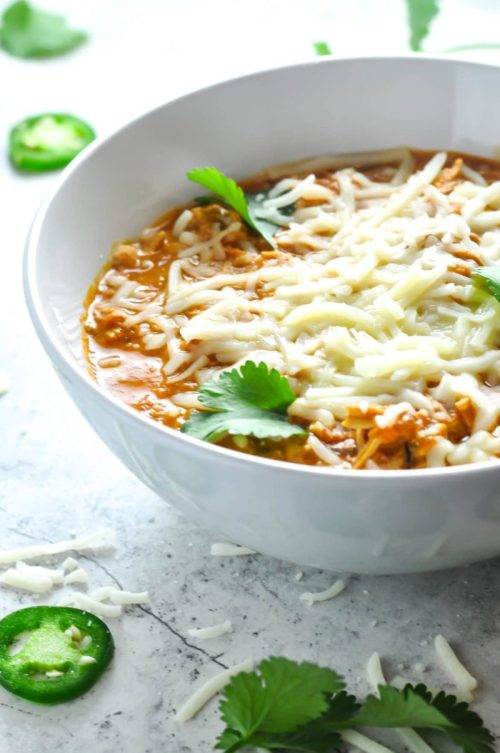 Keto Chicken Chili - 22 Of The Best Quick Keto Dinners. You won't believe how easy and delicious these recipes are. Low Carb recipes that can be made in the crockpot or a skillet. All of these drool-worthy recipes take 30 minutes or less to make. #keto #ketogenic #ketodiet #ketorecipes #dinnerrecipes #ketogenicdiet