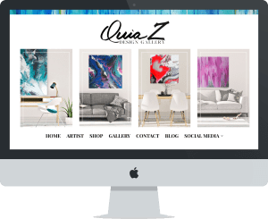 QZ Design Gallery Website Design By OH Creative Boutique