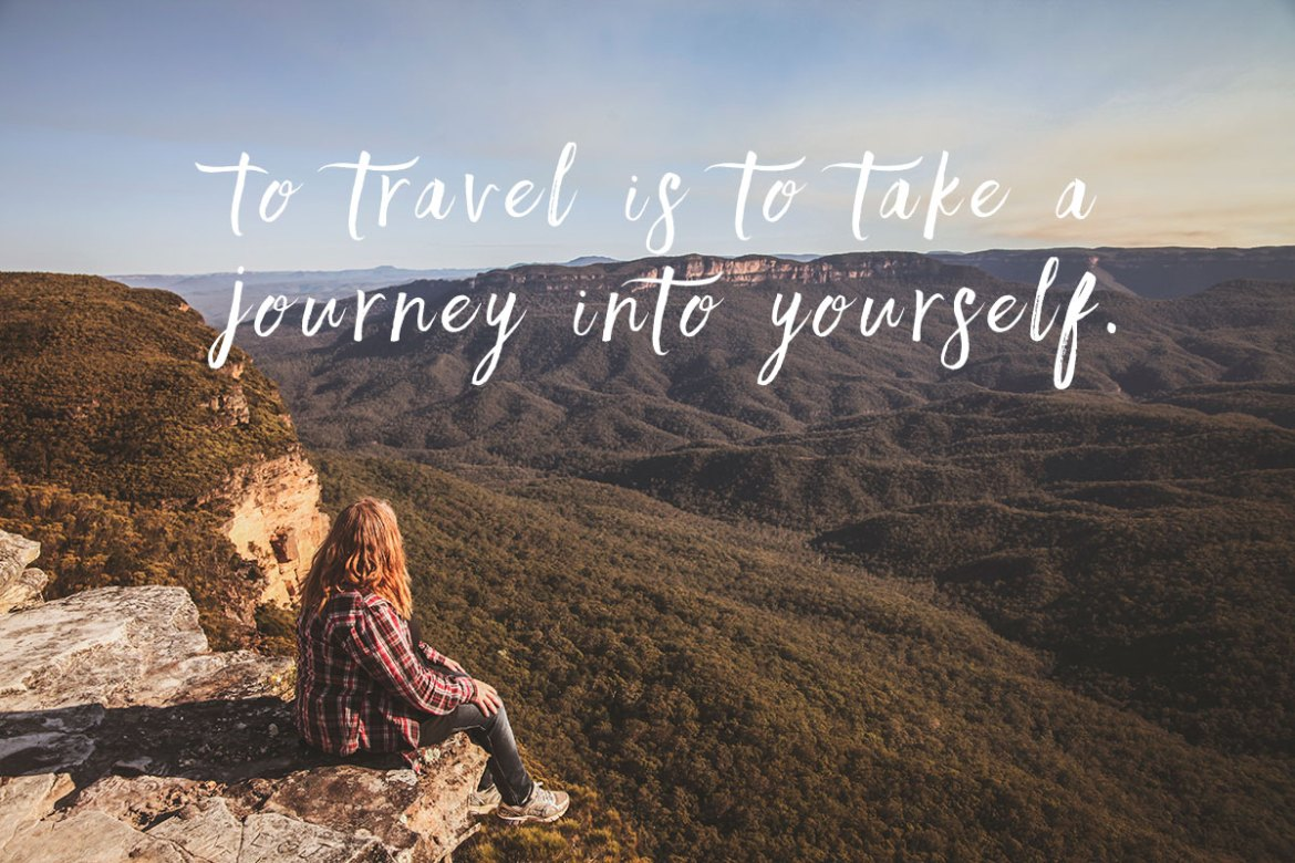 To travel is to take a journey into yourself. Härliga resecitat.