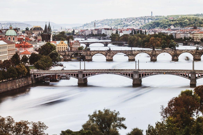 Utsikt från Letna Hill i Prag