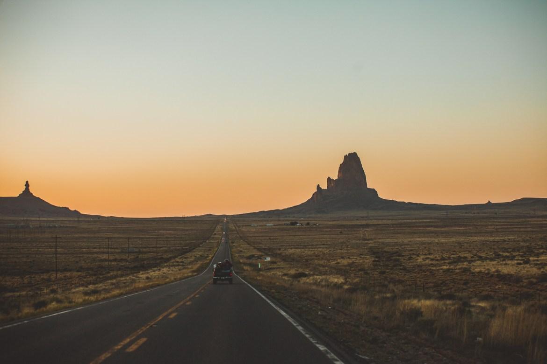 På väg mot Monument Valley Navajo Tribal Park.