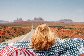 Forrest Gump Point vid Monument Valley