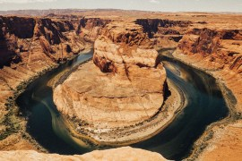 Horseshoe Bend - med fantastisk utsikt över Colorado River