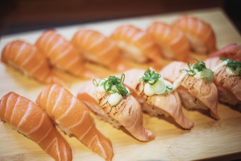 Sushi på Hanami i Glasgow