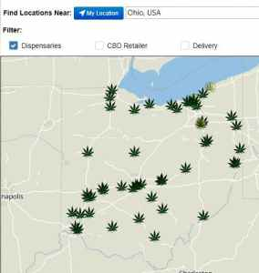 Ohio Dispensary Locations: 4/21/21