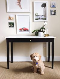 DIY Table Makeover with Marble Contact Paper