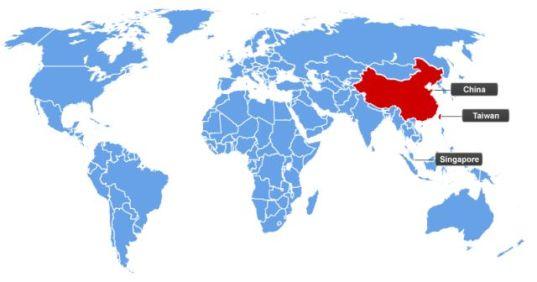Países de língua mandarim
