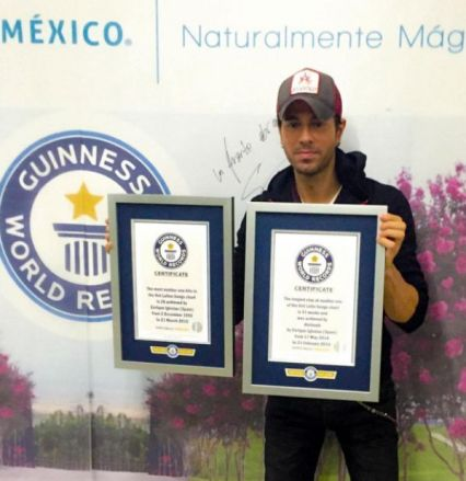 Enrique estabelece recorde do Guinness