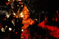traditionell balinesische Tanzvorführung