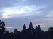 Angkor Wat - warten auf den Sonnenaufgang