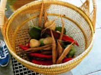 Einkaufen der Zutaten auf dem Markt